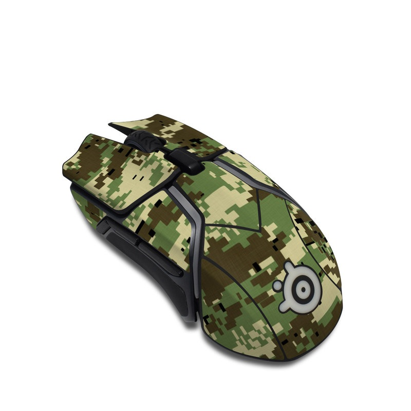 SteelSeries Rival 600 Gaming Mouse Skin design of Military camouflage, Pattern, Camouflage, Green, Uniform, Clothing, Design, Military uniform with black, gray, green colors