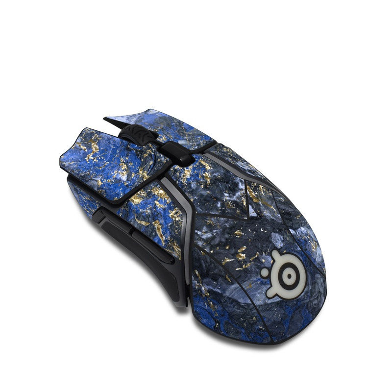 SteelSeries Rival 600 Gaming Mouse Skin design of Blue, Water, Cobalt blue, Rock, Painting, Geology, Electric blue, Mineral, Pattern, Acrylic paint with black, blue, yellow, white, gray colors