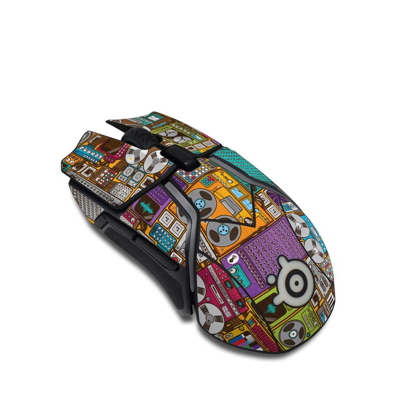SteelSeries Rival 600 Gaming Mouse Skin design of Games, Pc game, Design, Pattern, Screenshot, Art with gray, black, red, green, blue, purple colors