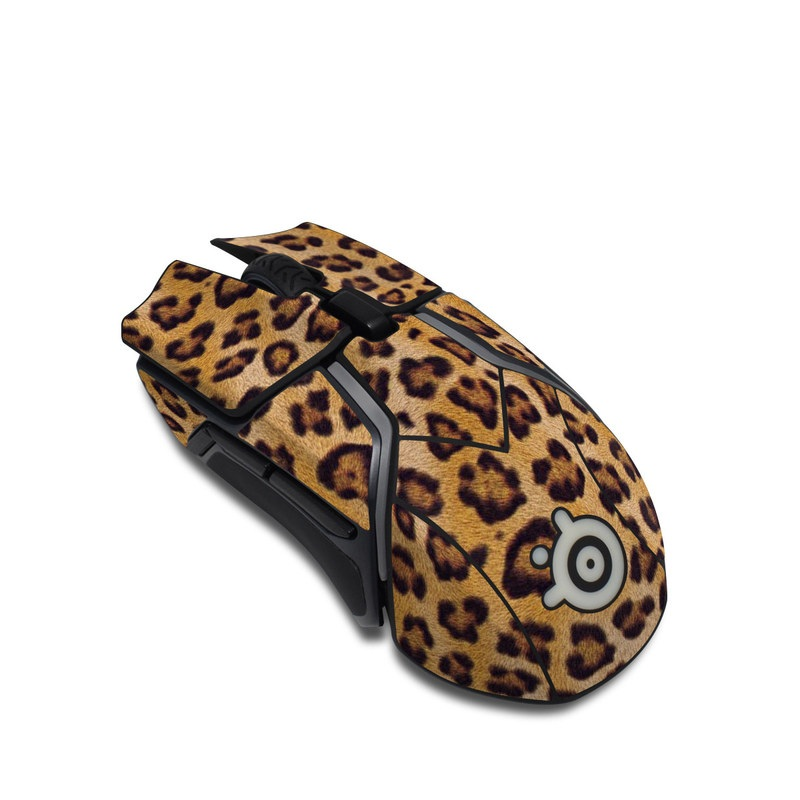 SteelSeries Rival 600 Gaming Mouse Skin design of Pattern, Felidae, Fur, Brown, Design, Terrestrial animal, Close-up, Big cats, African leopard, Organism with orange, black colors