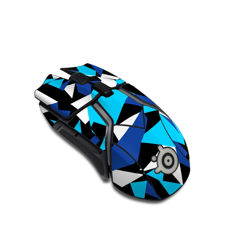 SteelSeries Rival 600 Gaming Mouse Skin design with blue, white, black colors