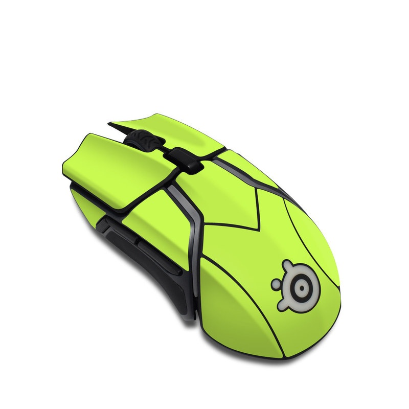 SteelSeries Rival 600 Gaming Mouse Skin design of Green, Yellow, Text, Leaf, Font, Grass with green colors