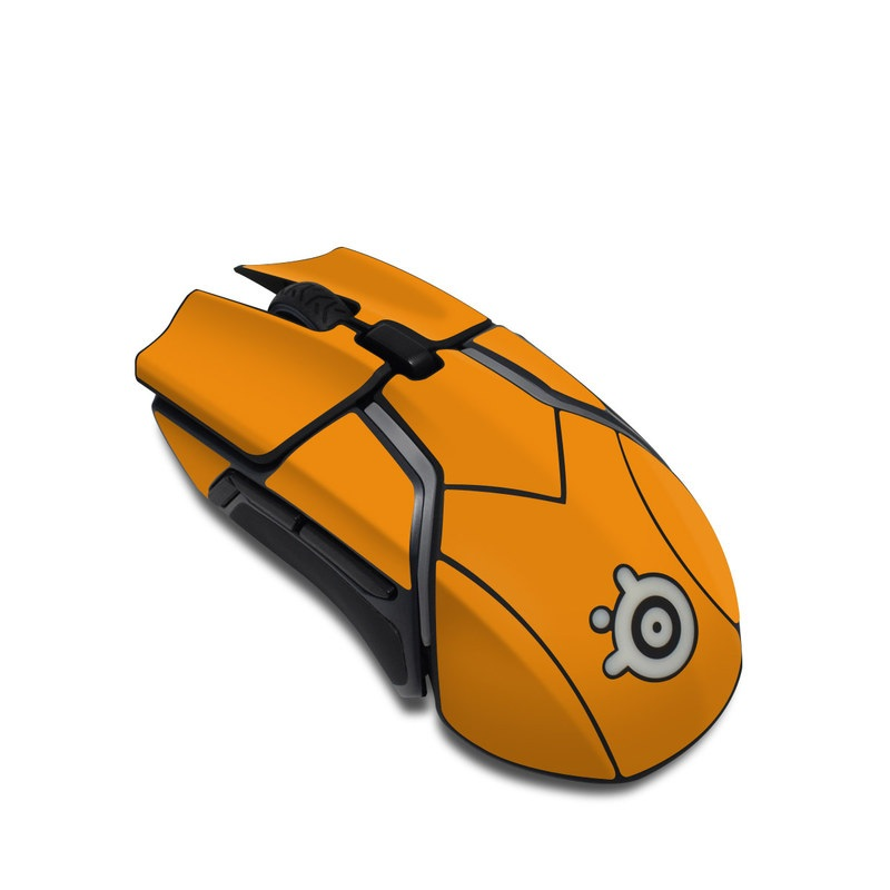 SteelSeries Rival 600 Gaming Mouse Skin design of Orange, Yellow, Brown, Text, Amber, Font, Peach with orange colors