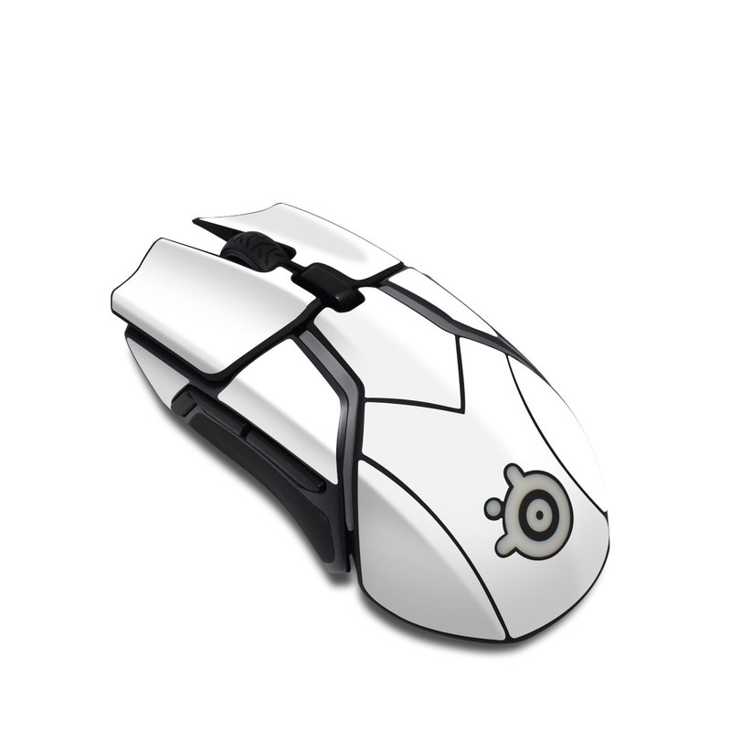 SteelSeries Rival 600 Gaming Mouse Skin design of White, Black, Line with white colors