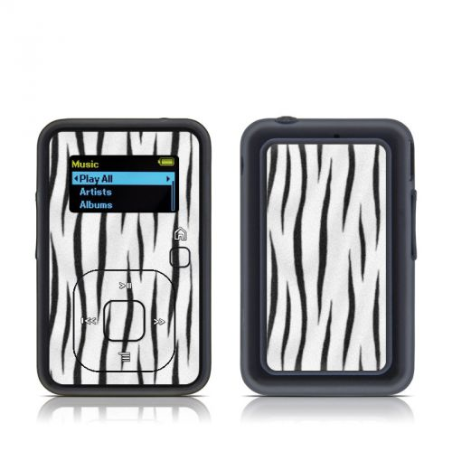 White Tiger Stripes SanDisk Sansa Clip+ Skin