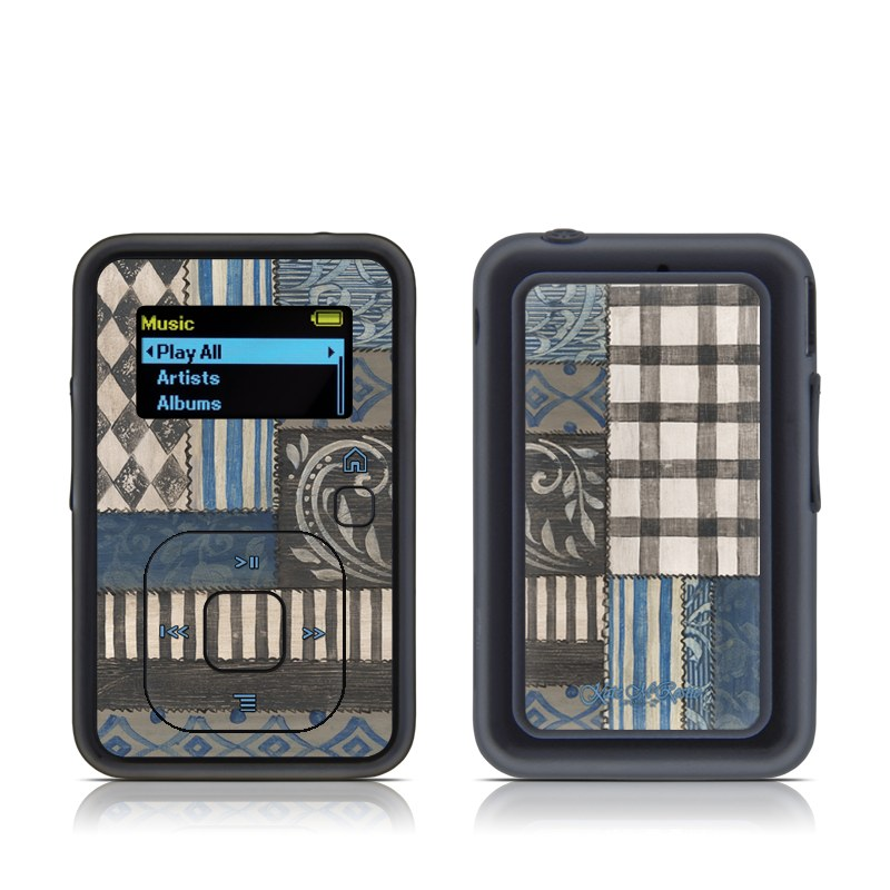 Country Chic Blue SanDisk Sansa Clip+ Skin