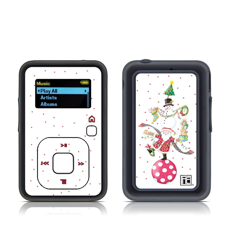 SanDisk Sansa Clip+ Skin design of Clip art, Holiday ornament, Fictional character with white, red, green, black, blue colors