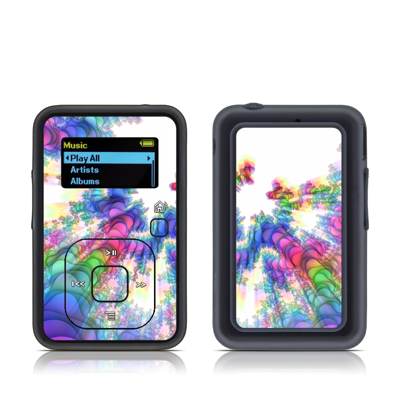 SanDisk Sansa Clip+ Skin design of Fractal art, Psychedelic art, Purple, Colorfulness, Art, Graphic design, Pattern, Graphics, Artwork, Symmetry with gray, white, blue, purple, pink colors
