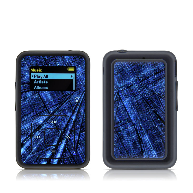 SanDisk Sansa Clip+ Skin design of Blue, Light, Electric blue, Pattern, Sky, Atmosphere, Line, Design, Textile, Space with black, blue colors