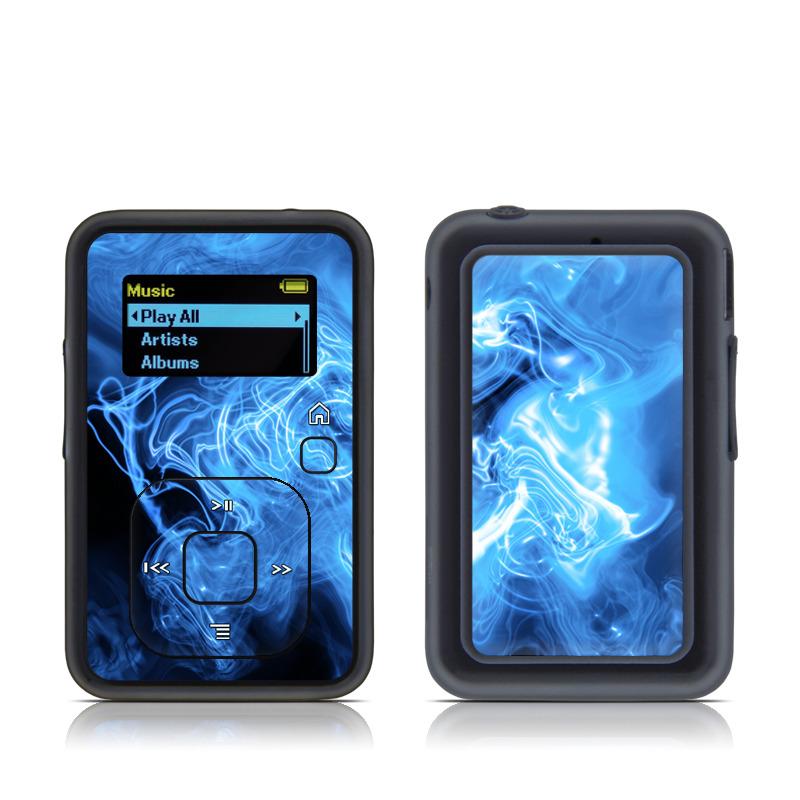 Blue Quantum Waves SanDisk Sansa Clip+ Skin
