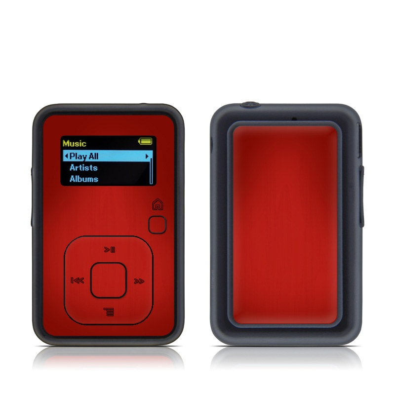 Red Burst SanDisk Sansa Clip+ Skin