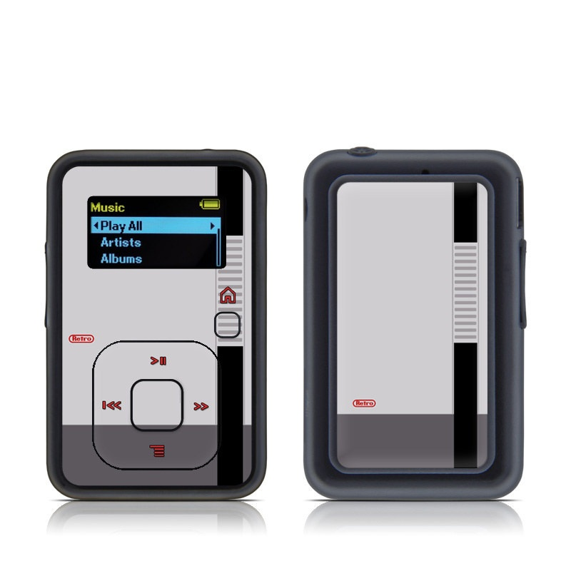 SanDisk Sansa Clip+ Skin design of Text, Font, Red, Product, Logo, Brand, Material property, Graphics, Rectangle with gray, black, red colors
