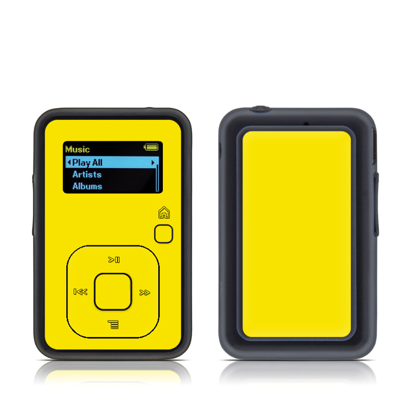 SanDisk Sansa Clip+ Skin design of Green, Yellow, Orange, Text, Font with yellow colors