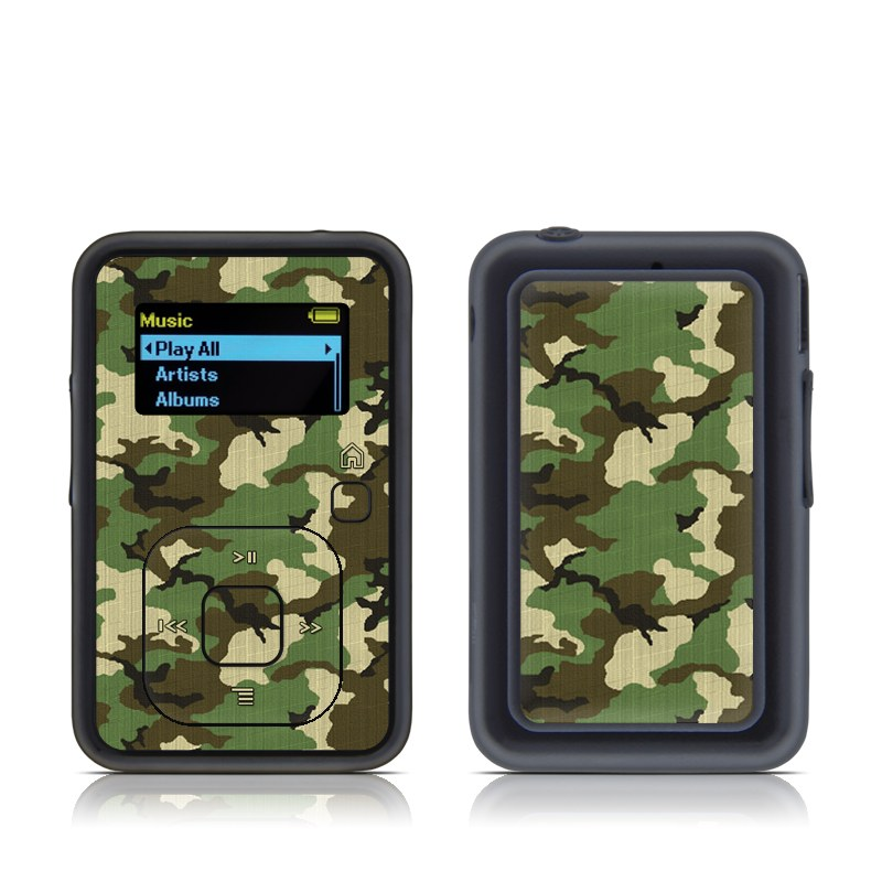 SanDisk Sansa Clip+ Skin design of Military camouflage, Camouflage, Clothing, Pattern, Green, Uniform, Military uniform, Design, Sportswear, Plane with black, gray, green colors