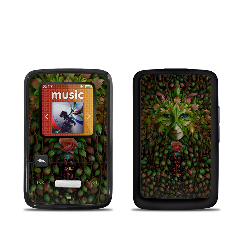 SanDisk Sansa Clip Zip Skin design of Green, Illustration, Plant, Tree, Fictional character, Art with black, red, green colors
