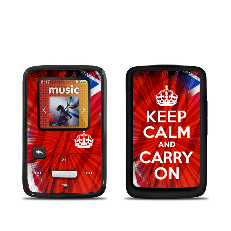 Keep Calm - Burst SanDisk Sansa Clip Zip Skin