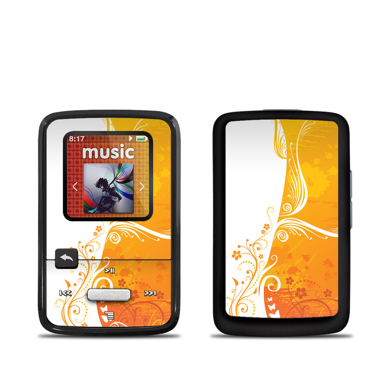 Orange Crush SanDisk Sansa Clip Zip Skin