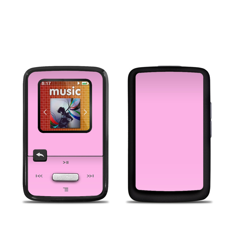 SanDisk Sansa Clip Zip Skin design of Pink, Violet, Purple, Red, Magenta, Lilac, Sky, Material property, Peach with pink colors