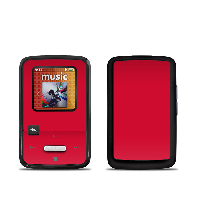 Solid State Red SanDisk Sansa Clip Zip Skin