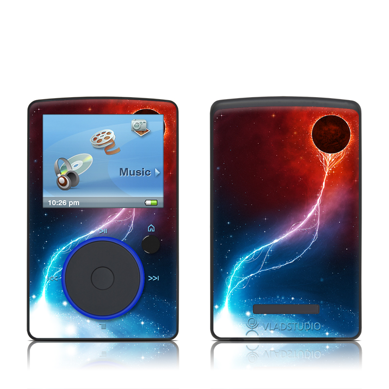 SanDisk Sansa Fuze Original Skin design of Outer space, Atmosphere, Astronomical object, Universe, Space, Sky, Planet, Astronomy, Celestial event, Galaxy with blue, red, black colors