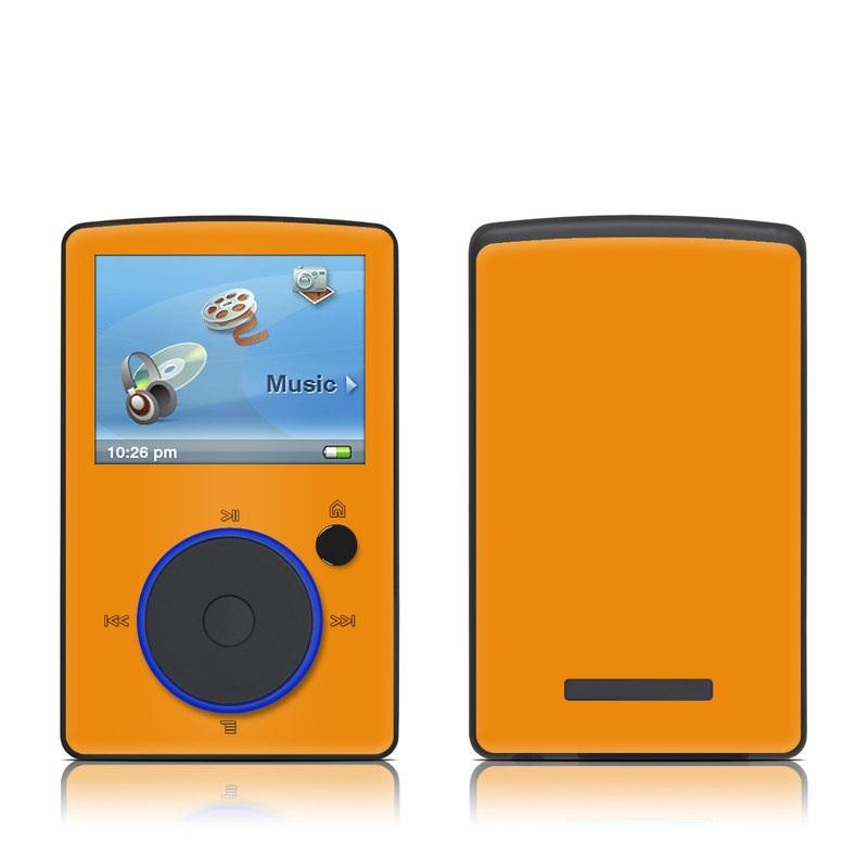 SanDisk Sansa Fuze Original Skin design of Orange, Yellow, Brown, Text, Amber, Font, Peach with orange colors
