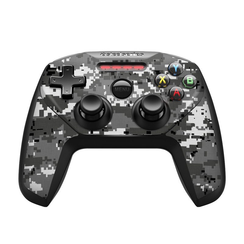 SteelSeries Nimbus Controller Skin design of Military camouflage, Pattern, Camouflage, Design, Uniform, Metal, Black-and-white with black, gray colors