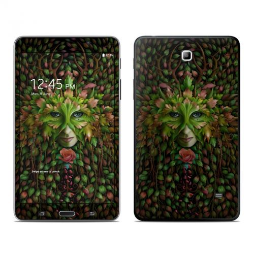 Green Woman Galaxy Tab 4 (7.0) Skin