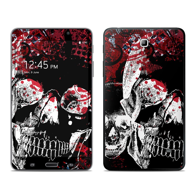 Samsung Galaxy Tab 4 7.0 Skin design of Graphic design, Illustration, Poster, Design, Art, Fictional character, Font, Graphics, Pattern, Album cover with black, red, white colors