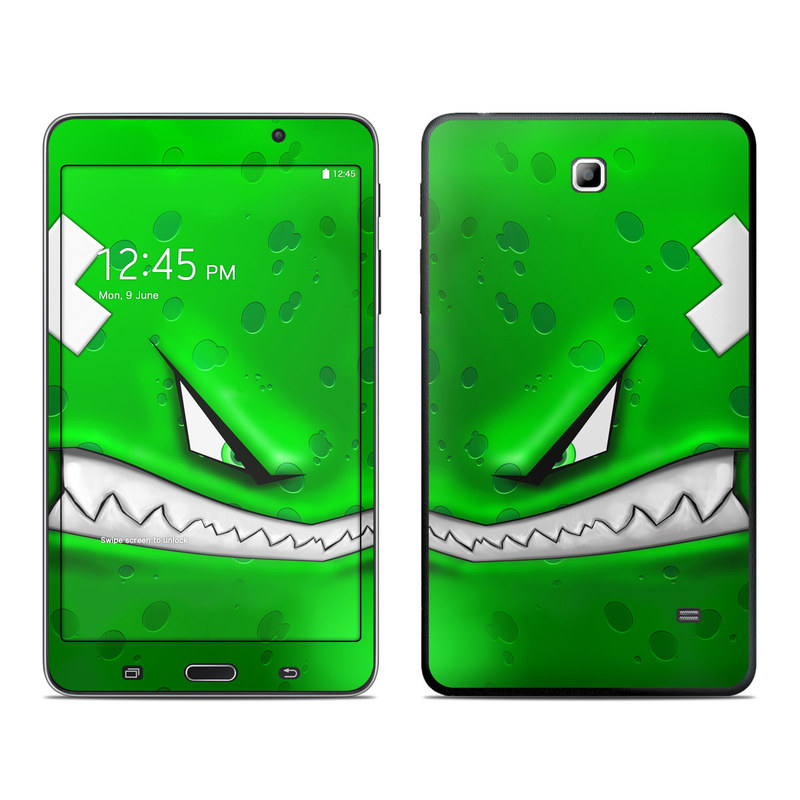 Samsung Galaxy Tab 4 7.0 Skin design of Green, Font, Animation, Logo, Graphics, Games with green, white colors