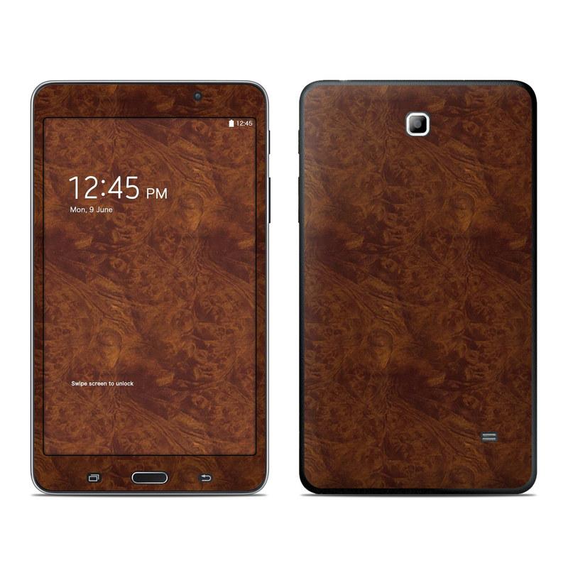 Samsung Galaxy Tab 4 7.0 Skin design of Brown, Wood, Wood flooring, Caramel color, Pattern, Hardwood, Wood stain, Flooring, Floor, Plywood with brown colors