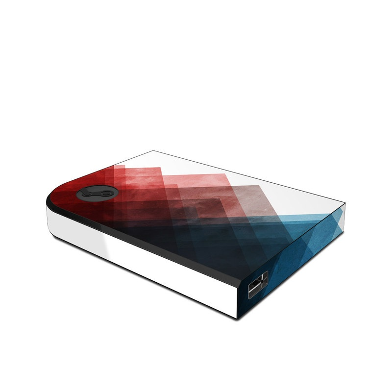 Valve Steam Link Skin design of Blue, Red, Sky, Pink, Line, Architecture, Font, Graphic design, Colorfulness, Illustration with red, pink, blue colors