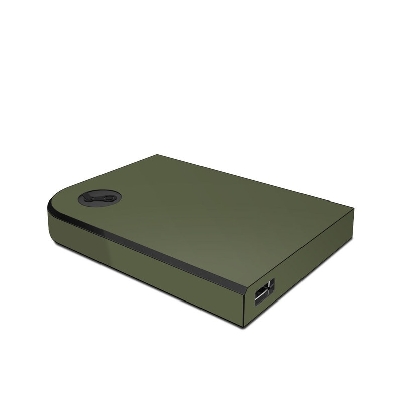 Valve Steam Link Skin design of Green, Brown, Text, Yellow, Grass, Font, Pattern, Beige with green colors