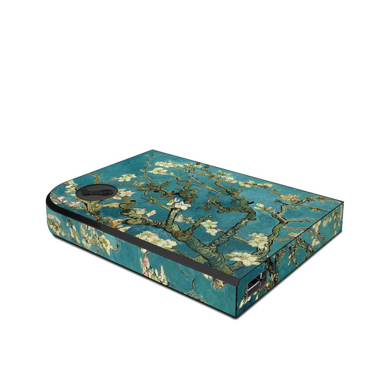 Valve Steam Link Skin design of Tree, Branch, Plant, Flower, Blossom, Spring, Woody plant, Perennial plant with blue, black, gray, green colors