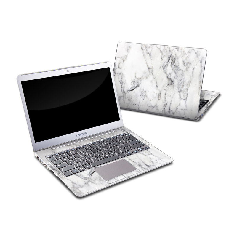 Samsung Series 5 13.3-inch Ultrabook Skin design of White, Geological phenomenon, Marble, Black-and-white, Freezing with white, black, gray colors
