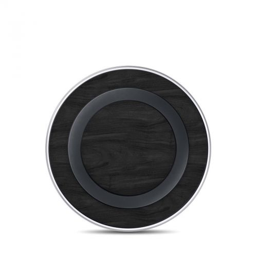 Black Woodgrain Samsung Wireless Charging Pad Skin