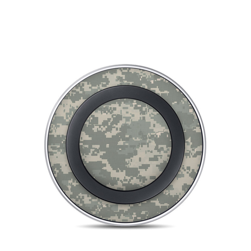 Samsung Wireless Charging Pad Skin design of Military camouflage, Green, Pattern, Uniform, Camouflage, Design, Wallpaper with gray, green colors