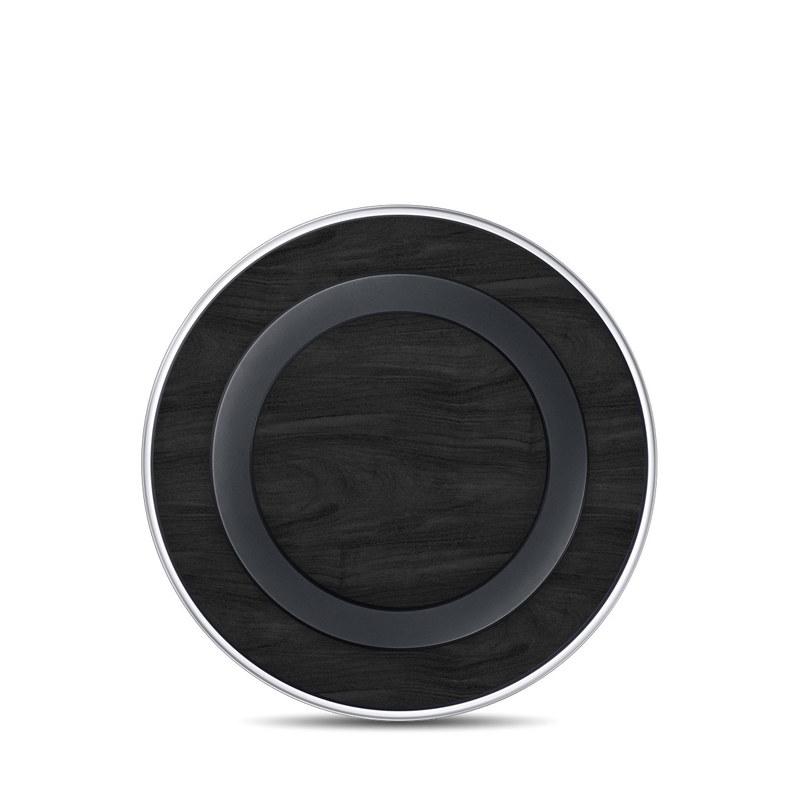 Samsung Wireless Charging Pad Skin design of Black, Brown, Wood, Grey, Flooring, Floor, Laminate flooring, Wood flooring with black colors