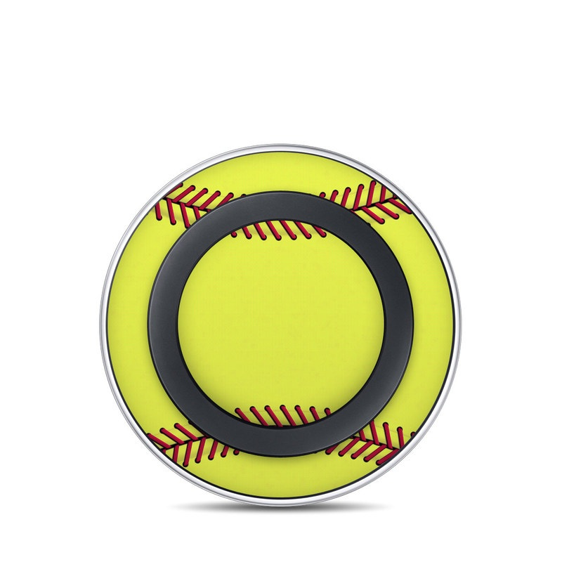 Softball Samsung Wireless Charging Pad Skin