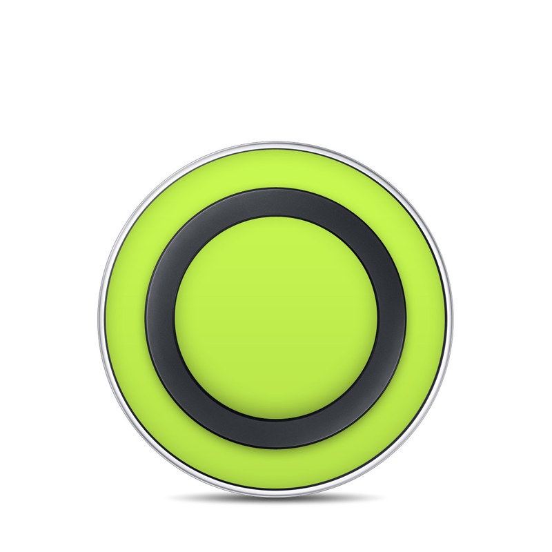 Solid State Lime Samsung Wireless Charging Pad Skin