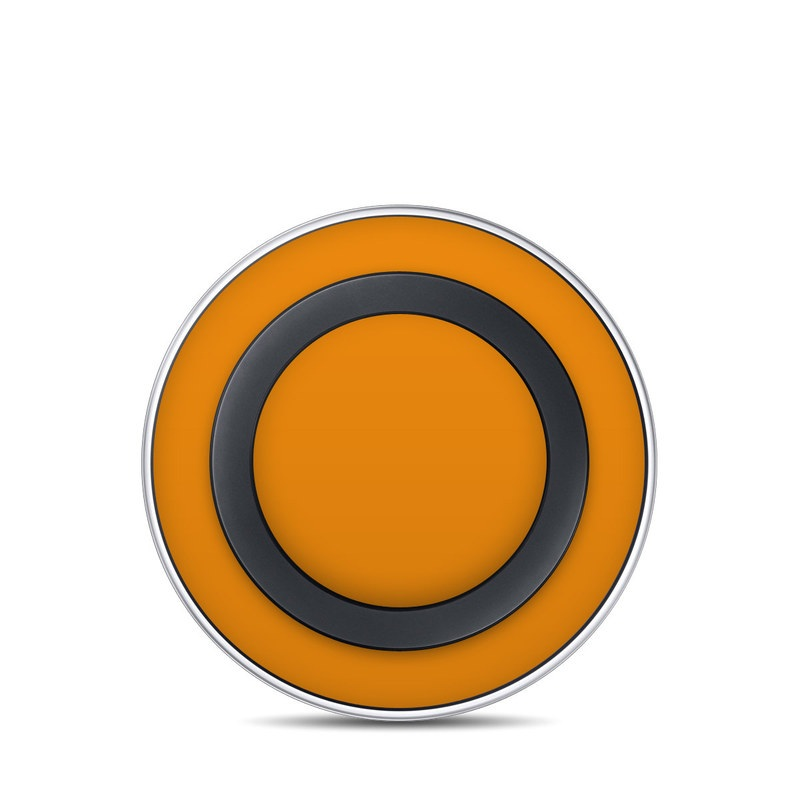 Solid State Orange Samsung Wireless Charging Pad Skin