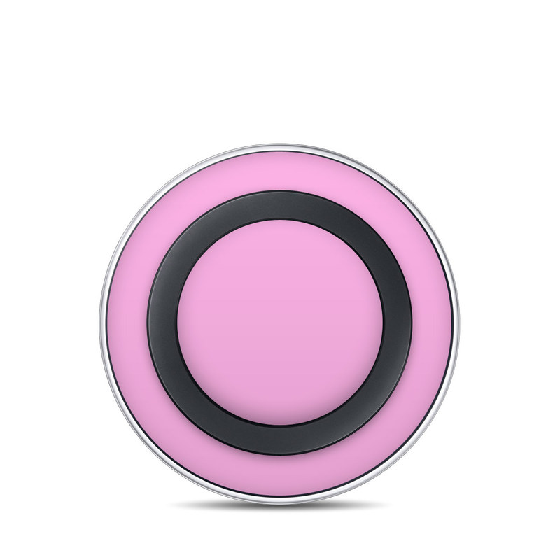 Solid State Pink Samsung Wireless Charging Pad Skin