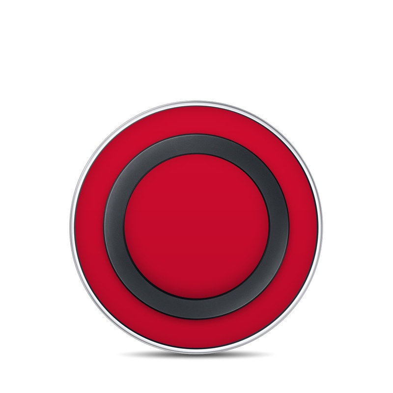 Solid State Red Samsung Wireless Charging Pad Skin