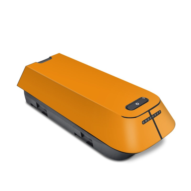 3DR Solo Battery Skin design of Orange, Yellow, Brown, Text, Amber, Font, Peach with orange colors