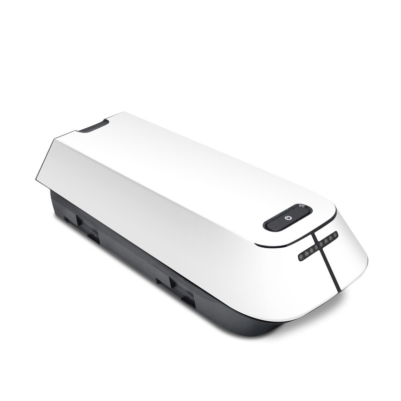 3DR Solo Battery Skin design of White, Black, Line with white colors