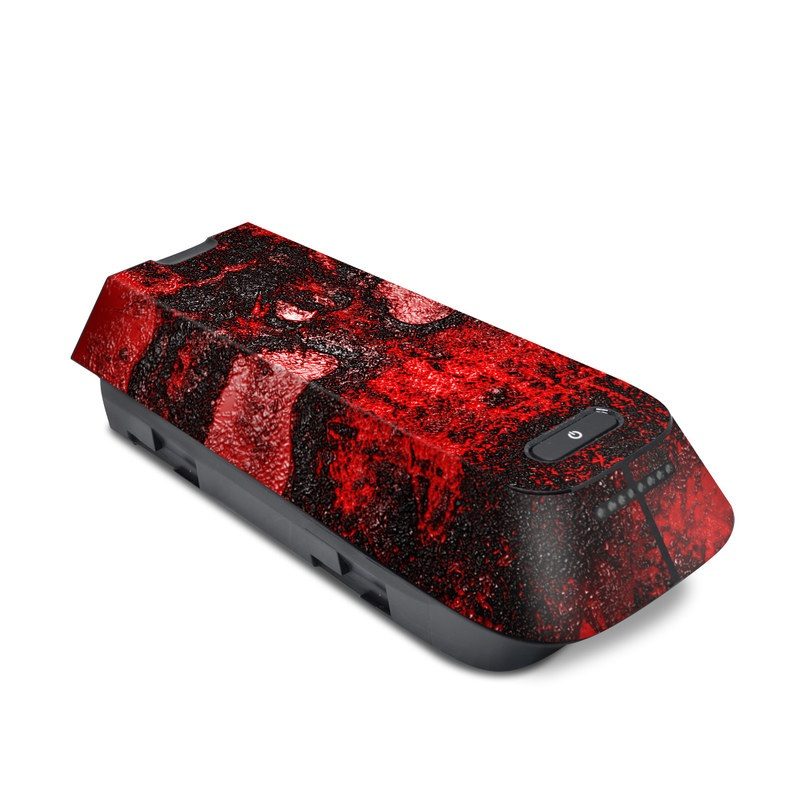 3DR Solo Battery Skin design of Red, Heart, Graphics, Pattern, Skull, Graphic design, Flesh, Visual arts, Art, Illustration with black, red colors