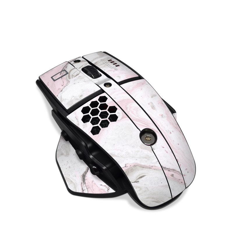 Tt eSPORTS Level 10M Advanced Gaming Mouse Skin design of White, Pink, Pattern, Illustration with pink, gray, white colors