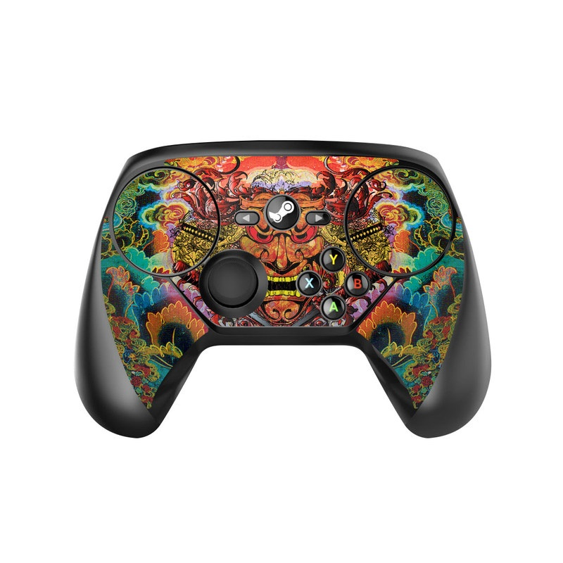 Valve Steam Controller Skin design of Art, Psychedelic art, Visual arts, Illustration, Fictional character, Demon with red, orange, yellow colors