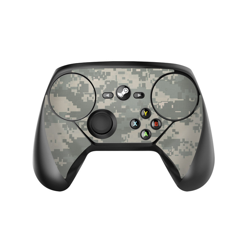 Valve Steam Controller Skin design of Military camouflage, Green, Pattern, Uniform, Camouflage, Design, Wallpaper with gray, green colors