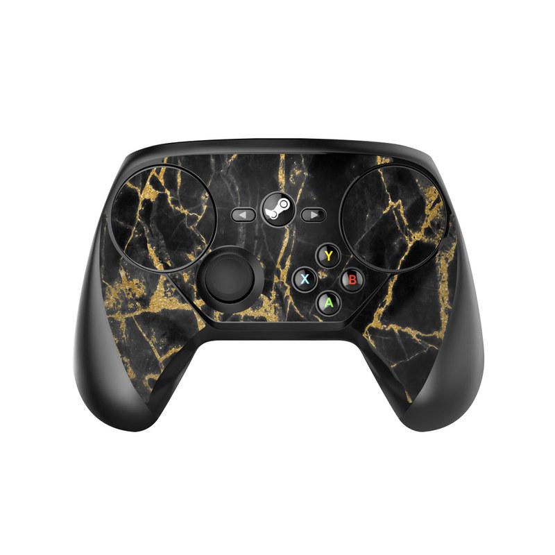 Black Gold Marble Valve Steam Controller Skin