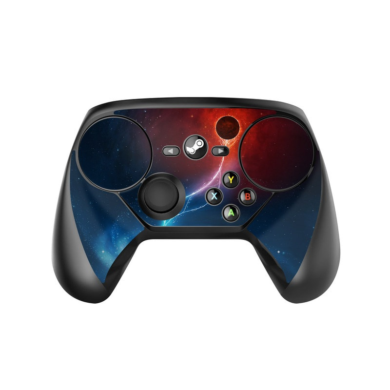Valve Steam Controller Skin design of Outer space, Atmosphere, Astronomical object, Universe, Space, Sky, Planet, Astronomy, Celestial event, Galaxy with blue, red, black colors